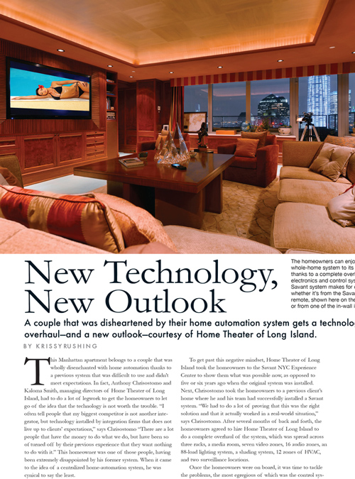 CEDIA ELECTRONIC LIFESTYLES FEATURE
